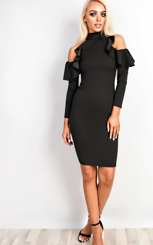 Niki Frill Bodycon Dress