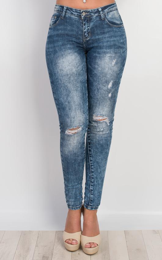 Jordan Distressed Skinny Jeans