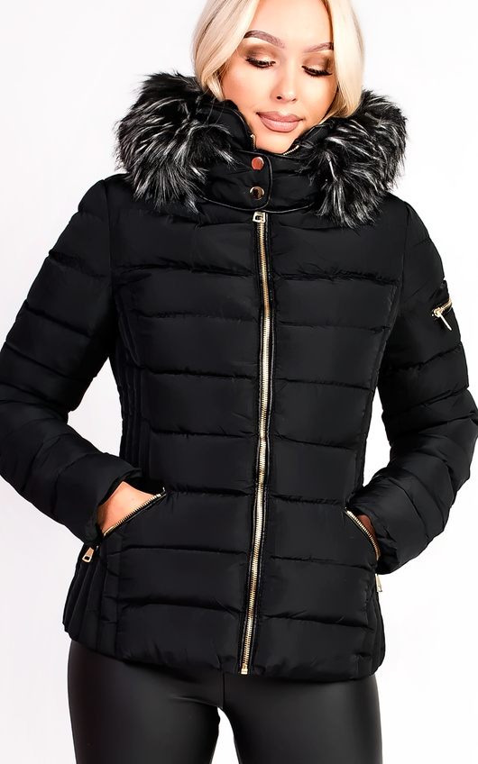 Harriet Padded Faux Fur Hooded Jacket