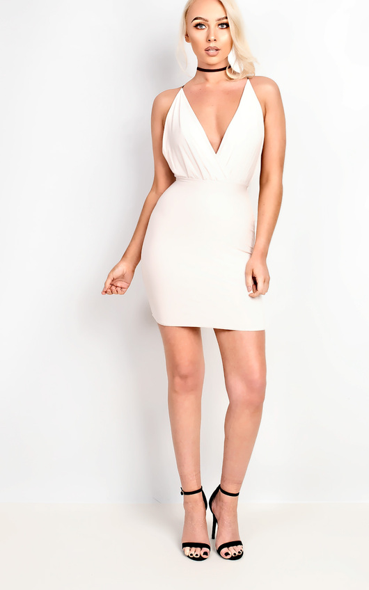 Carovie Slinky Bodycon Mini Dress