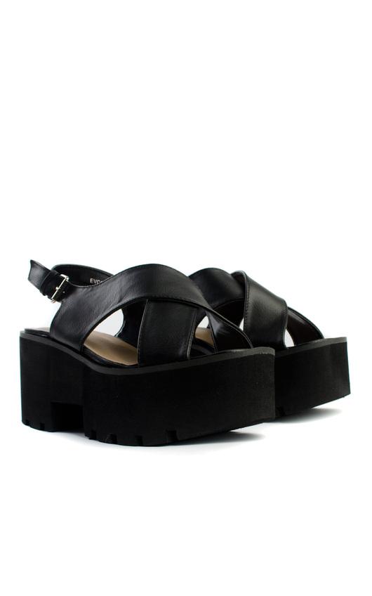 Elyse Platform Cross Strap Sandals
