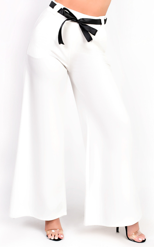 Siena High Waisted Wide Legged Trouser