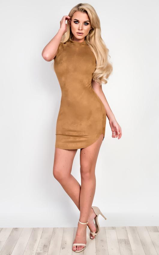 Martha Suede Bodycon Dress