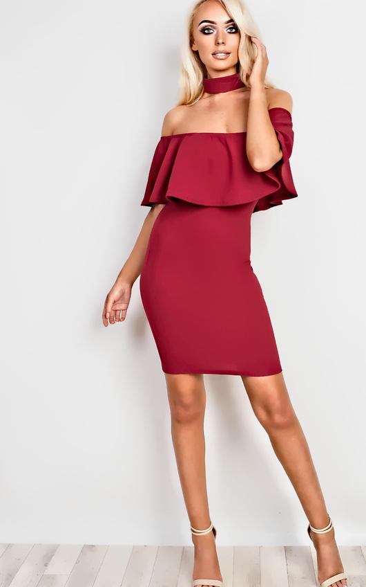 Kassidy Choker Neck Bodycon Dress