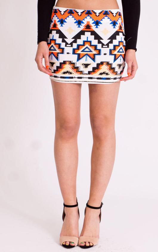 Maya Tribal Mini Skirt