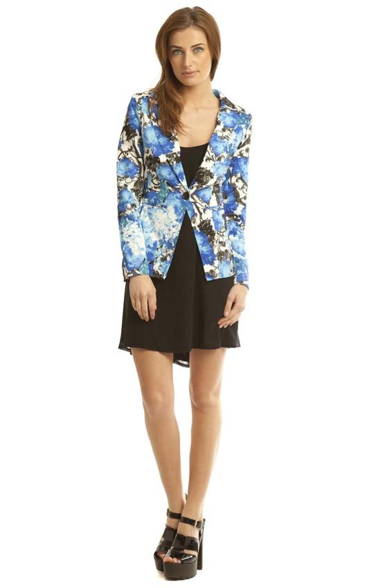 Kadence Blue Floral Blazer