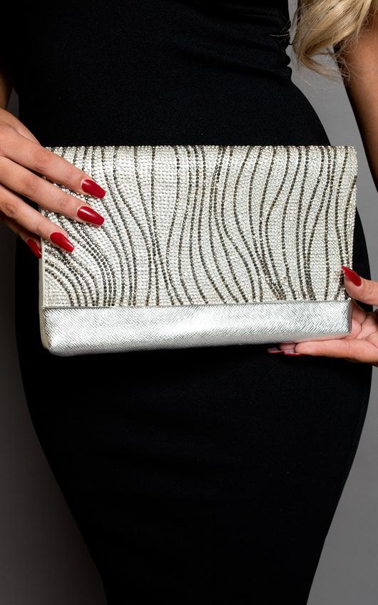 Maja Sparkle Stripe Clutch Bag