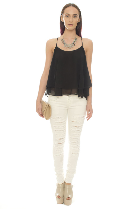 Adira Ripped White Jeans