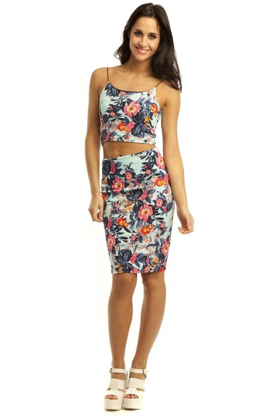 Elodie Floral  Midi Skirt