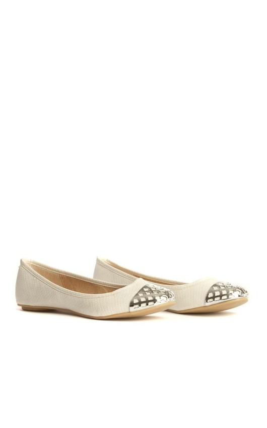 Flo White Ballerina Pumps