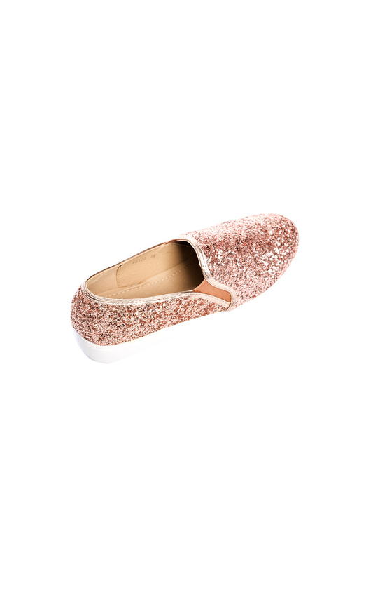2cee07174e03 Alex Slip On Chunky Glitter Trainers in Rose gold | ikrush