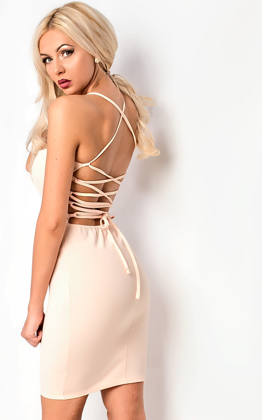 Jenna Strappy Lace Up Bodycon Dress