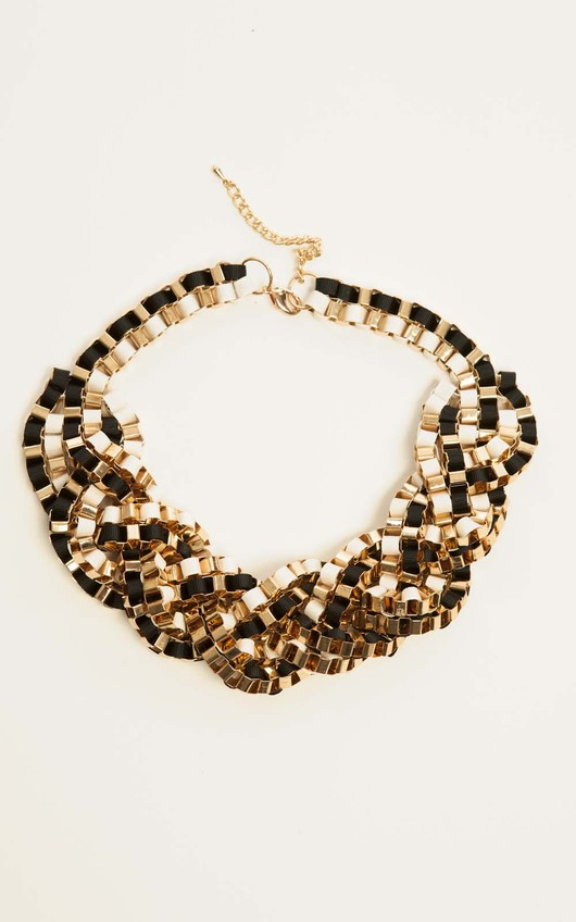 Phedra Black Rope Necklace