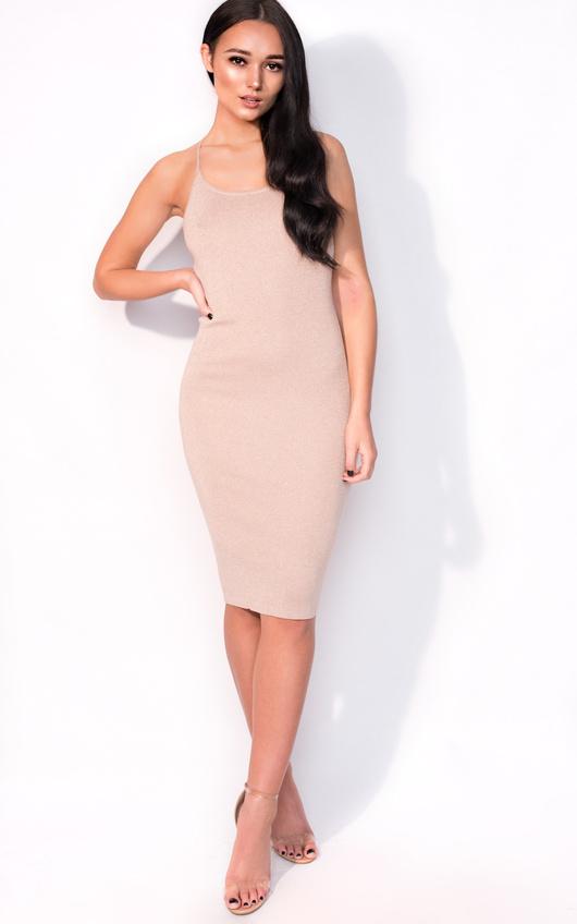 Saskia Midi Luxe Bandage Dress
