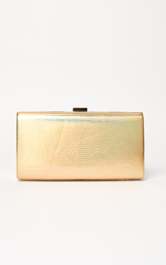 Anneke Croc Metallic Clutch Bag