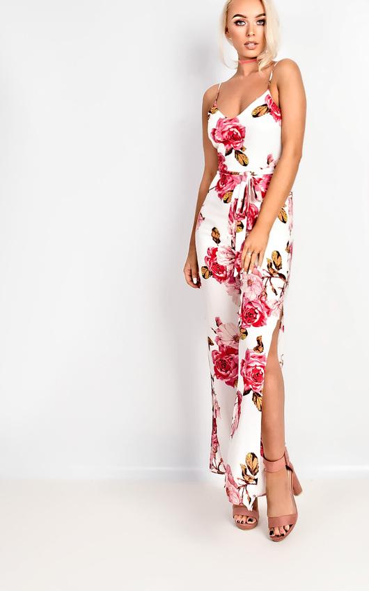 Tilly Floral Tie Waist Jumpsuit