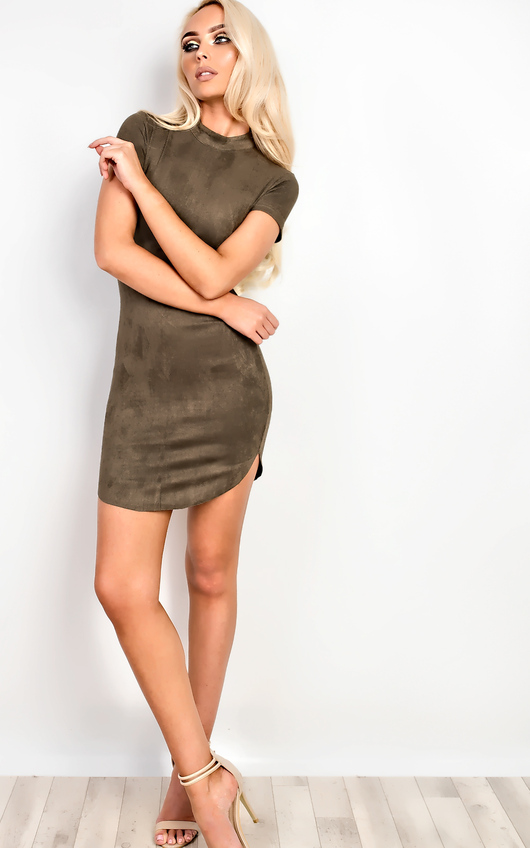 Madisyn Suede Bodycon Dress