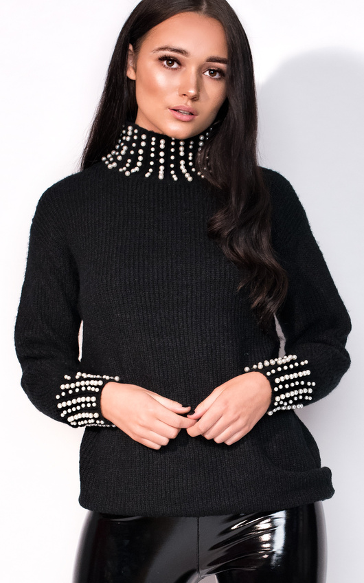 Una Beaded Knitted Jumper