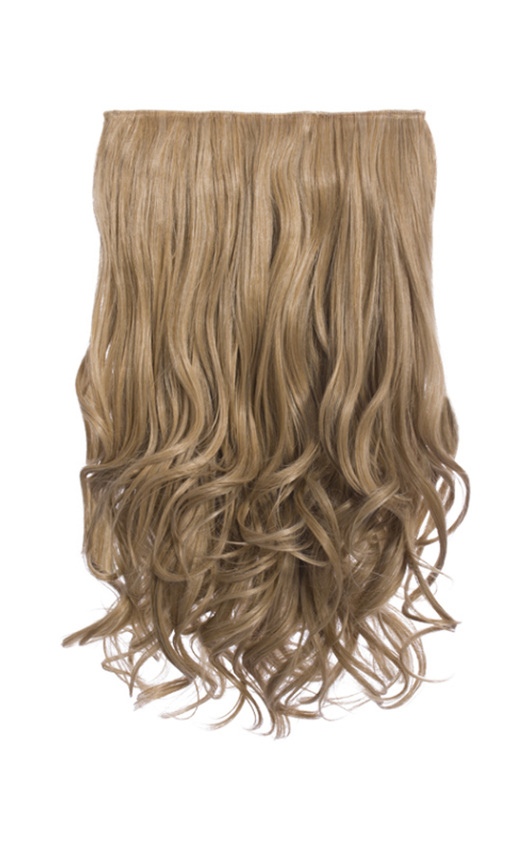 Intense Volume Clip In Hair Extensions - Curly Honey Blonde
