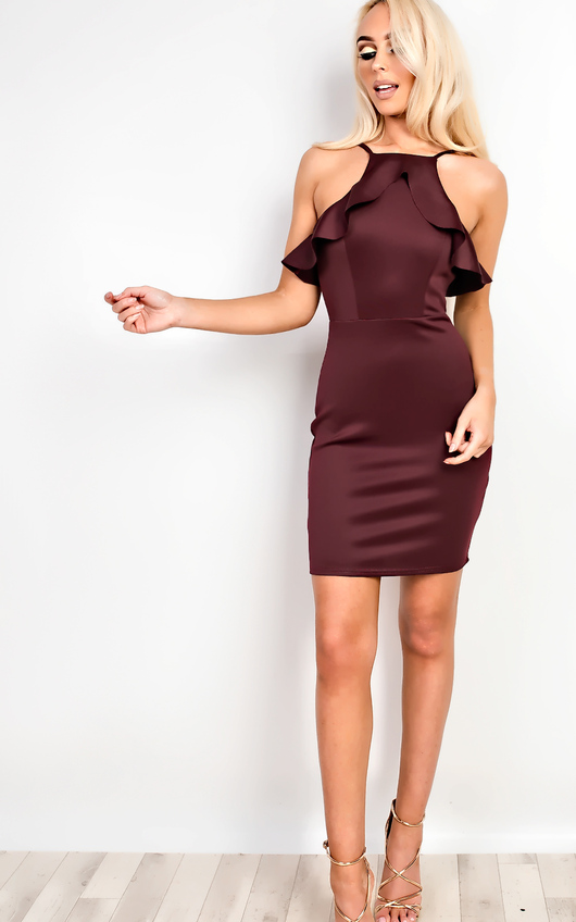 Kailyn Frill Bodycon Dress