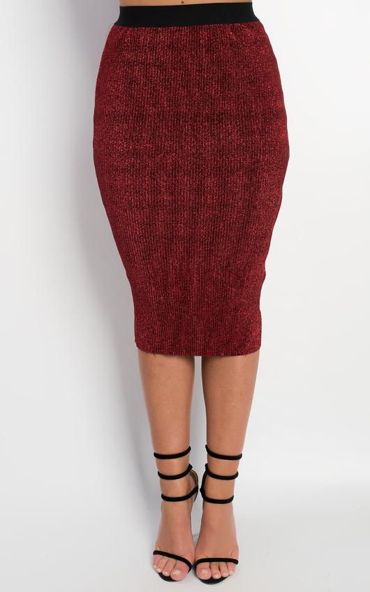 Nada Sparkle Bodycon Skirt