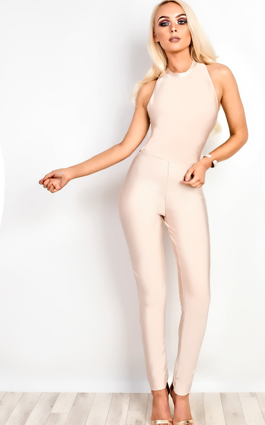 Pearl Bandage Bodycon Jumpsuit