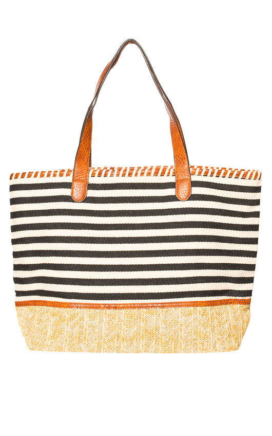Delilah Stripe Beach Bag