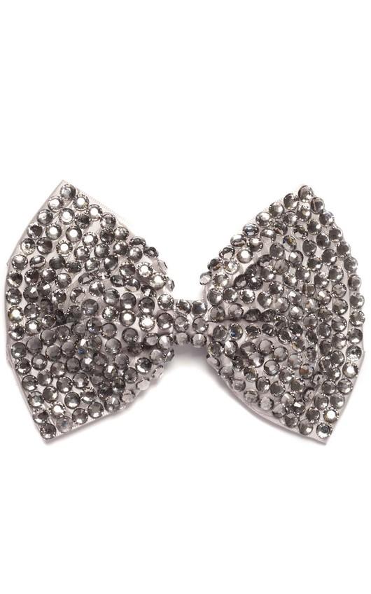 Kalina Silver Gem Hair Bow