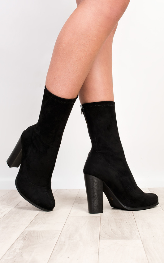 Saint Faux Suede Heeled Boots