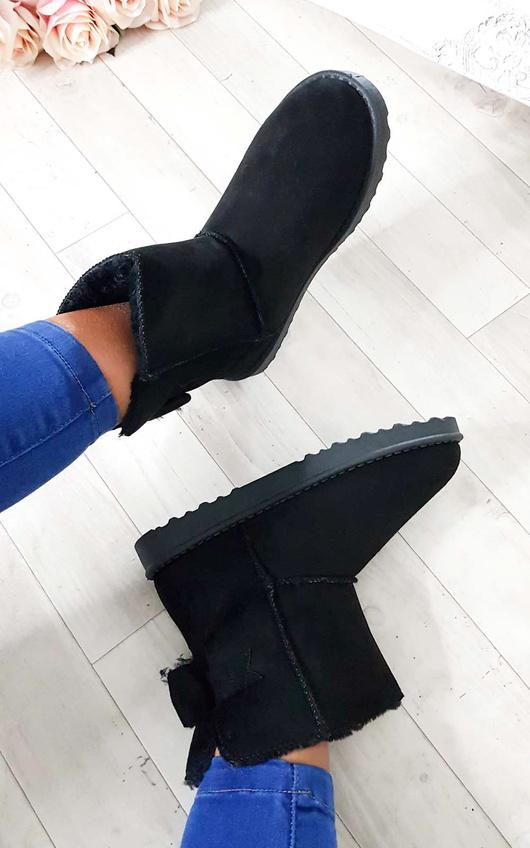 Kara Faux Fur Bow Platform Boots