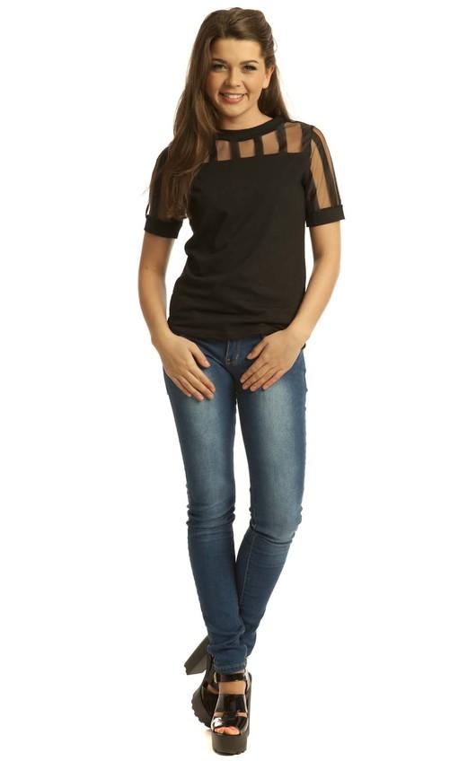 Zoella Mesh Panel T-Shirt