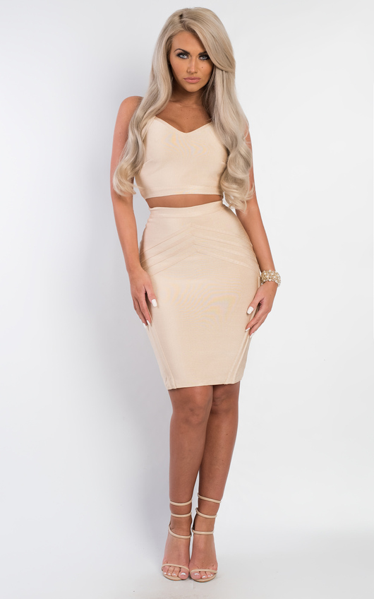 d2820ae23bbed Joss Bandage Crop Top in Apricot