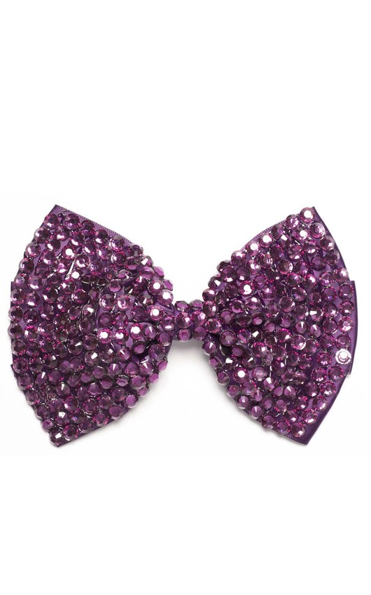 Kalina Purple Gem Hair Bow
