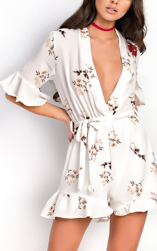 Lexie Floral Frill Playsuit