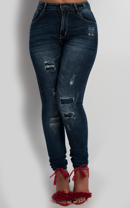 Noxi Distressed Skinny Jeans