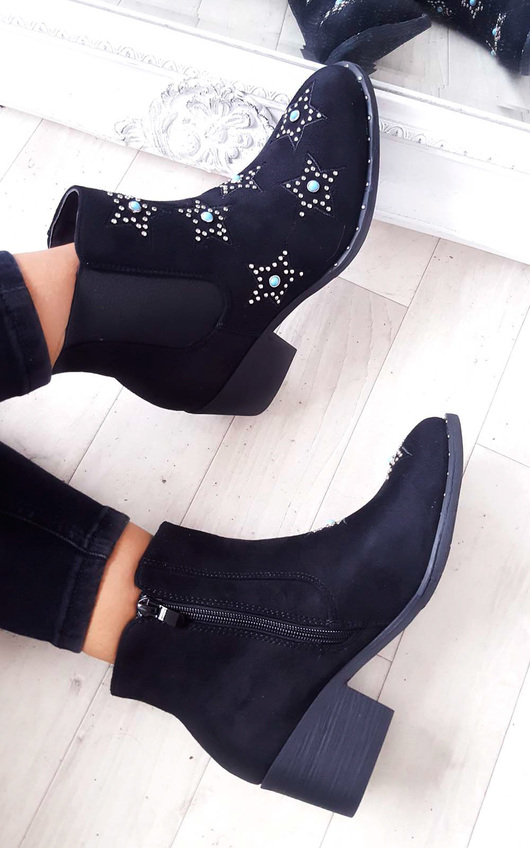 Morgan Stone Embellished Chelsea Boot