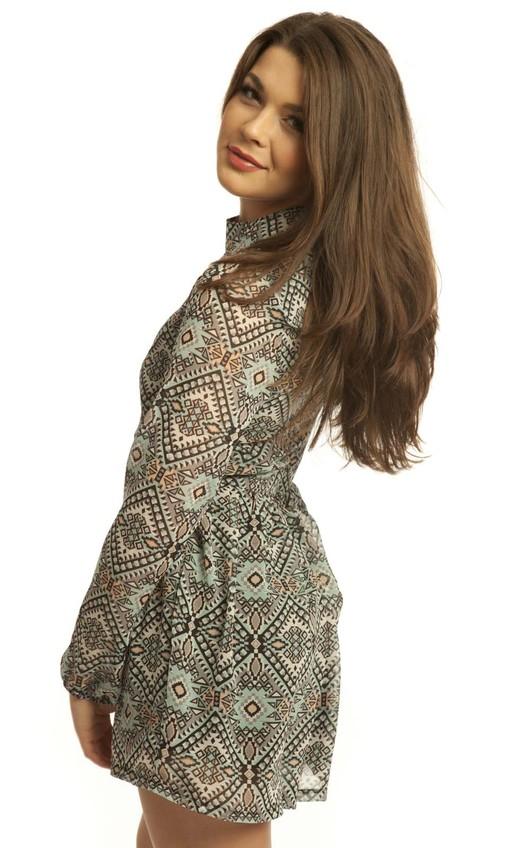 Raira Aztec Long Sleeved Playsuit