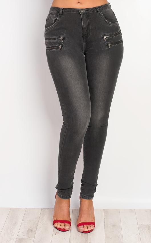 Dorete Zip Detail Skinny Jeans