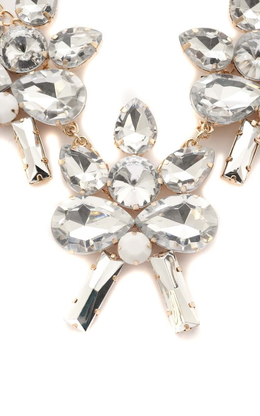 Peppi Silver Gem Stone Flower Necklace