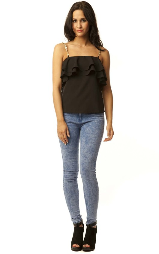 Camille Frill Vest Top