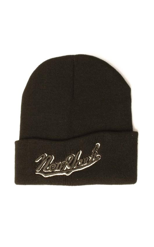 Black New York Beanie Hat