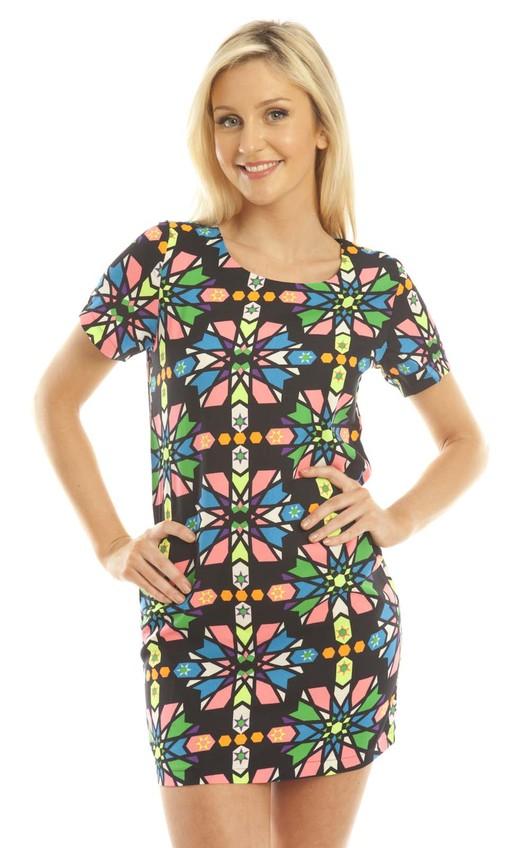 Avaya Printed Shift Dress