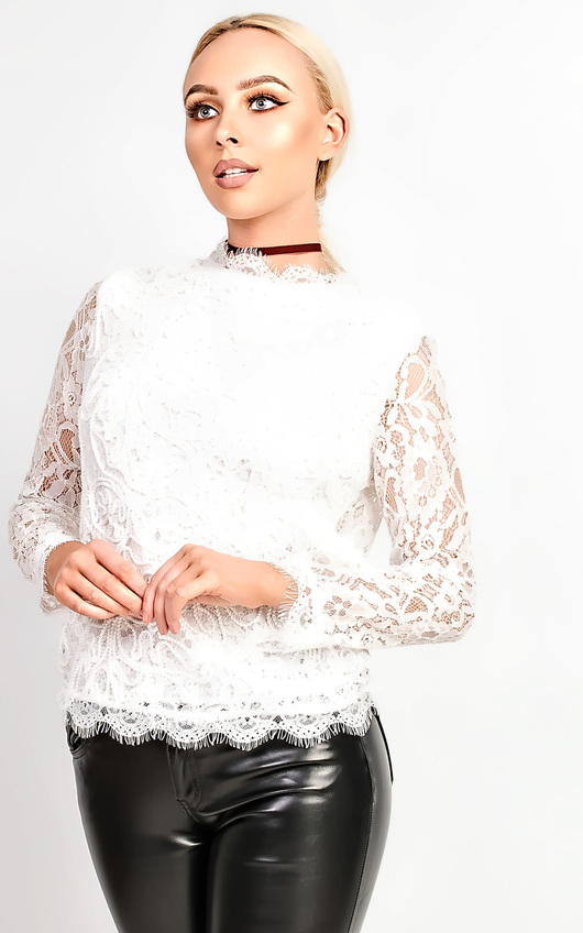 Kaira Lace Applique Top