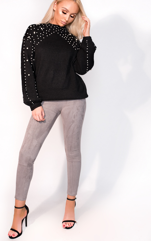 Anna Beaded Knitted Jumper
