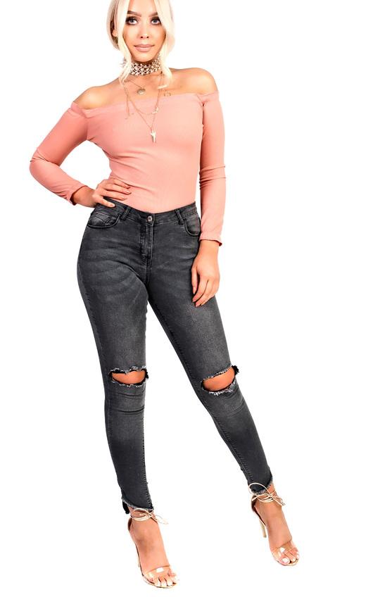 Anya Ripped Skinny Jeans