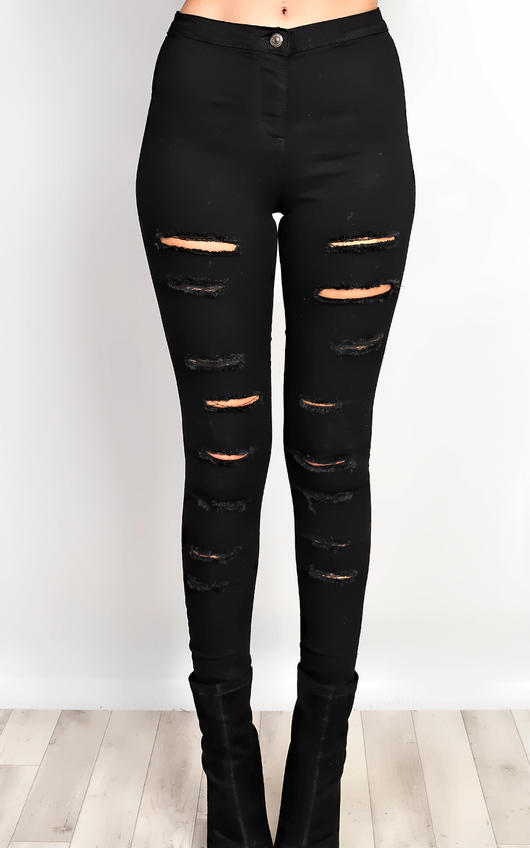 Kathie Ripped Skinny Jeans