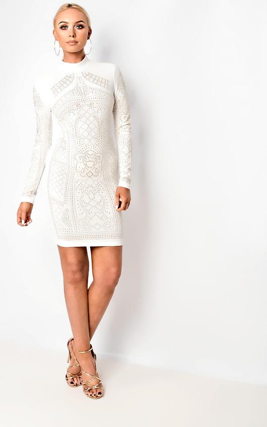 Lilian Studded Bodycon Dress
