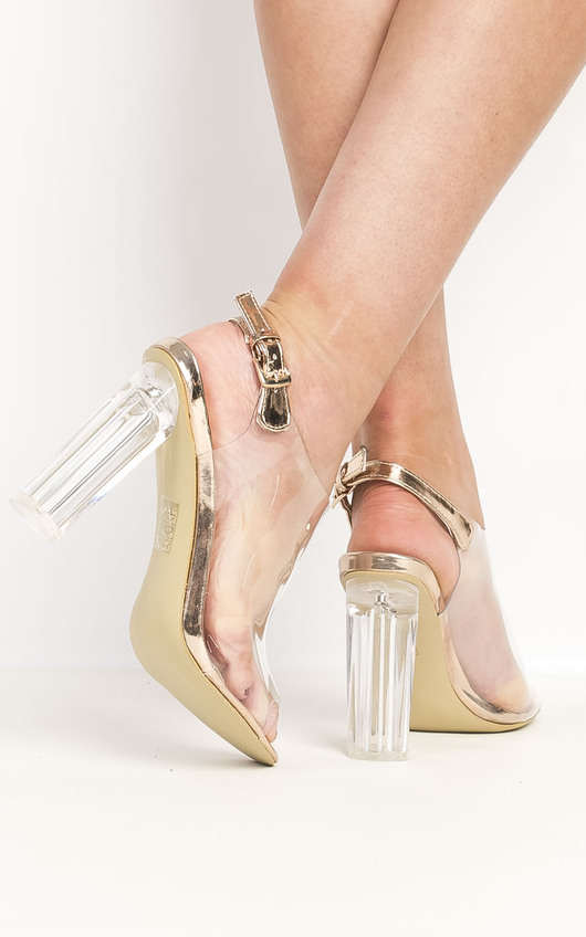 33f4d92d412 Koko Clear High Heels in Rose gold