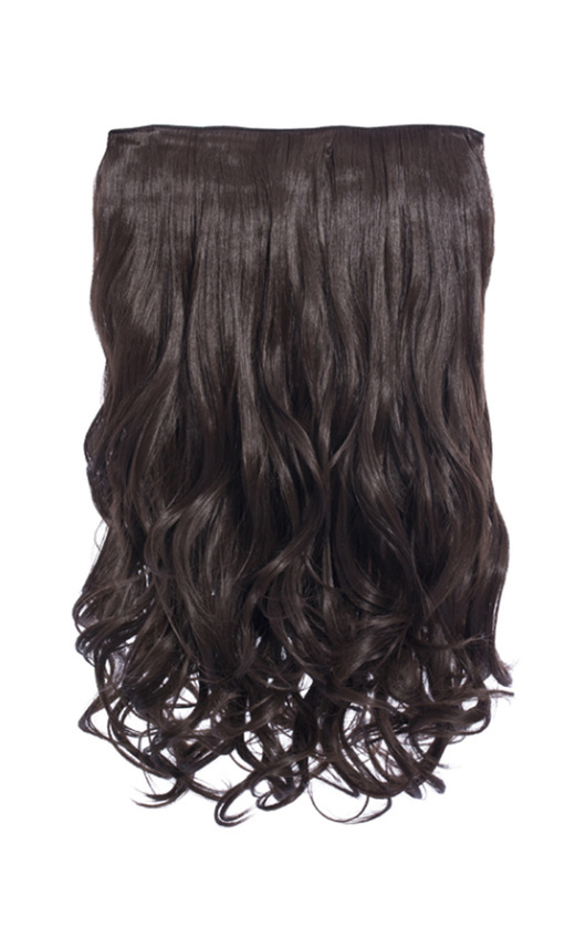 Intense Volume Clip In Hair Extensions - Curly Choc Brown