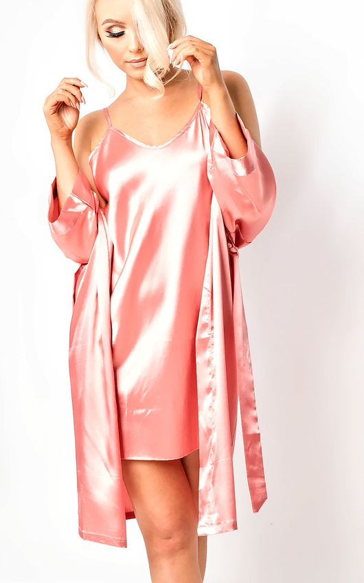 d5f436754d Briah Satin Dressing Gown Cami Set Thumbnail